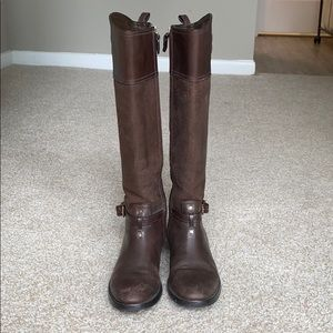 Tory Burch Chocolate Simone riding boots